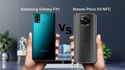 SAMSUNG GALAXY F41 VS POCO X3